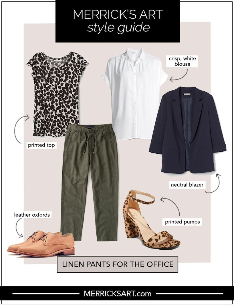 linen pants outfit ideas for the office