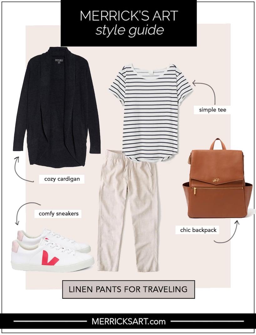 linen pants outfit ideas