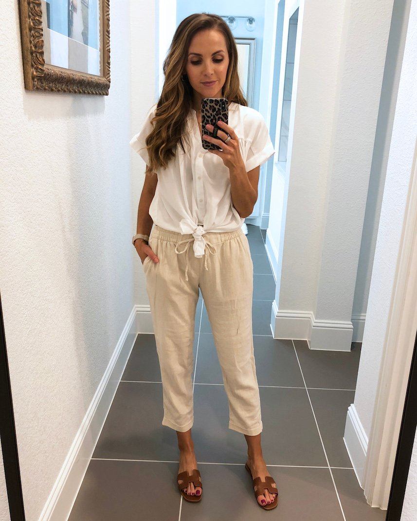 cream linen pants from old navy