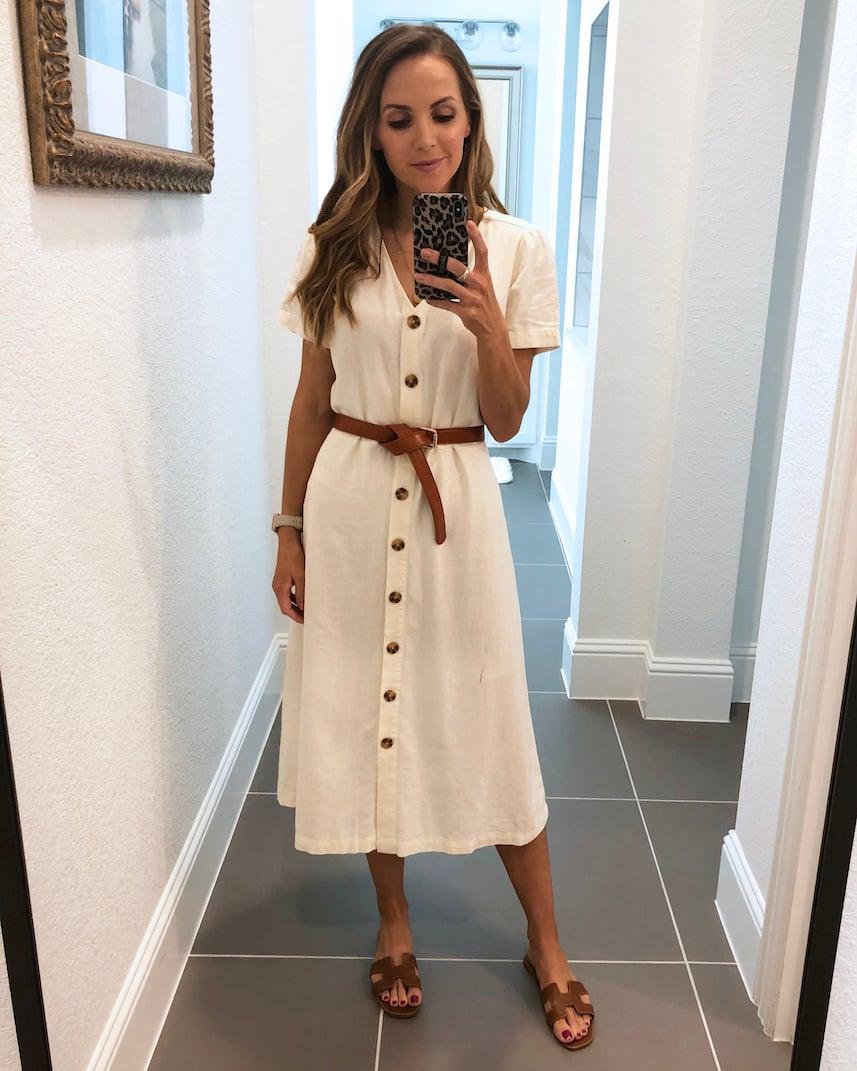 white old navy dress