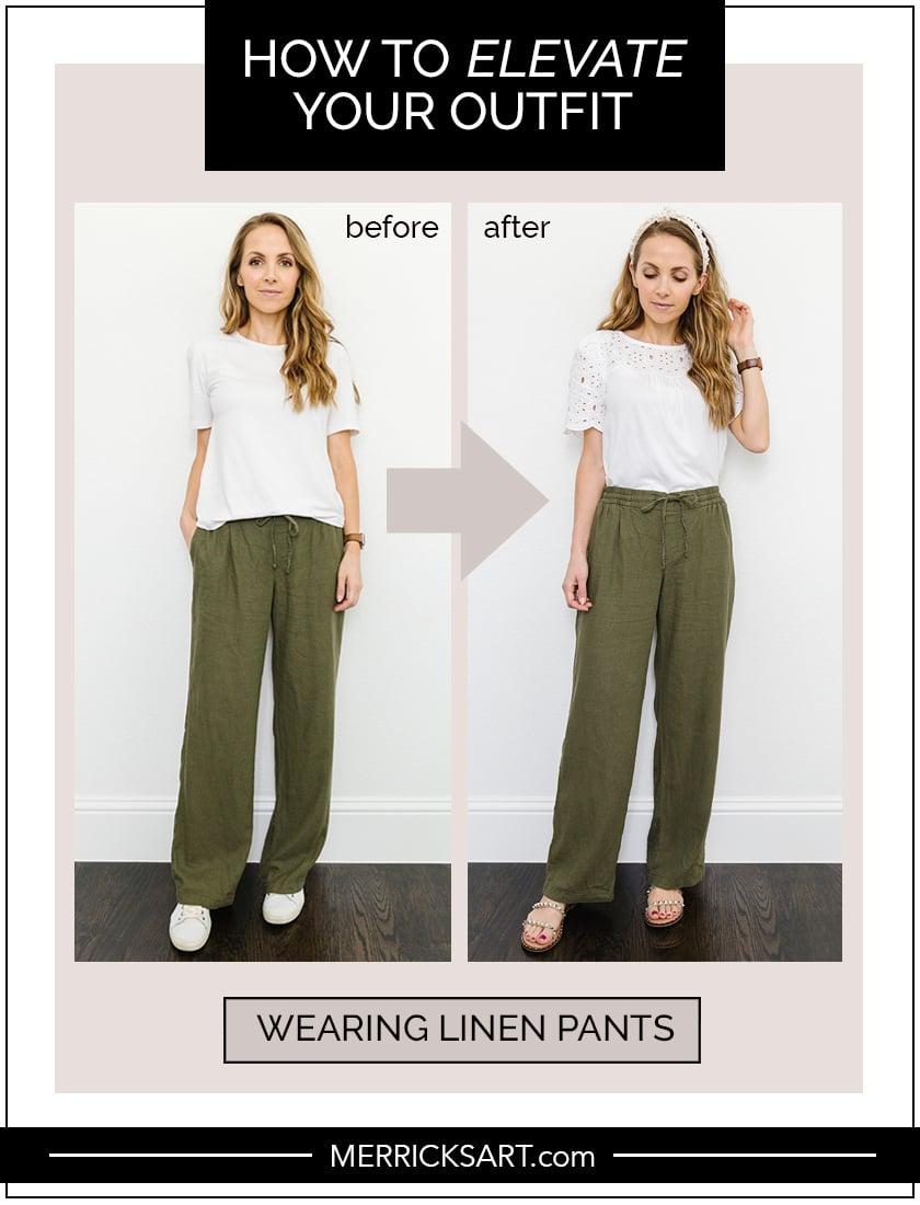 linen pants outfit idea