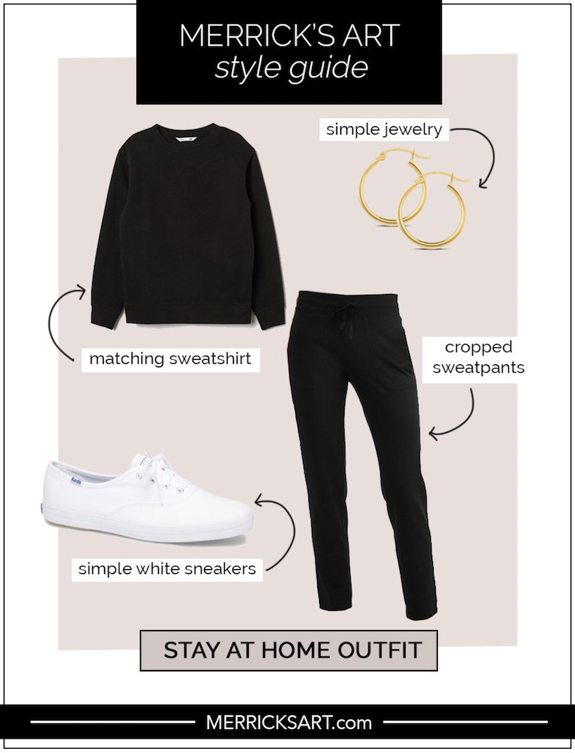 sweatsuit and sneakers outfit