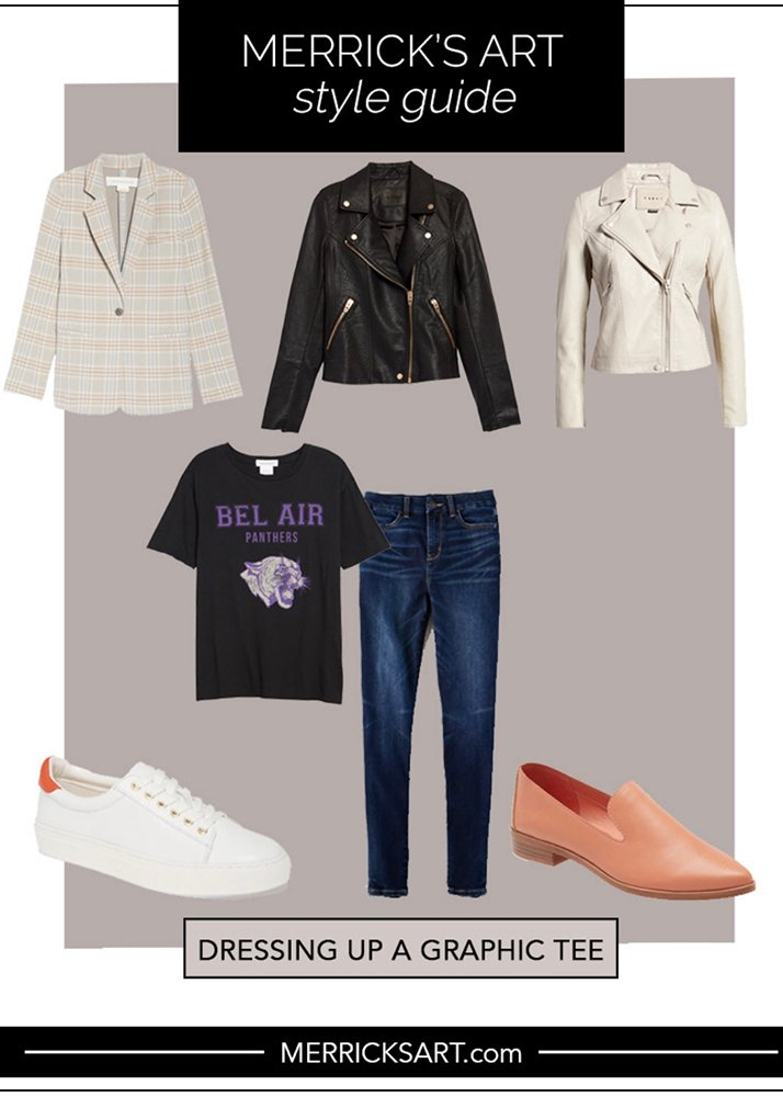 dressing up a basic tee