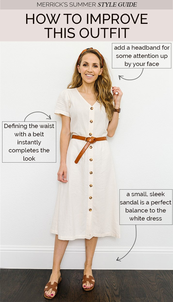 dress outfit with belt