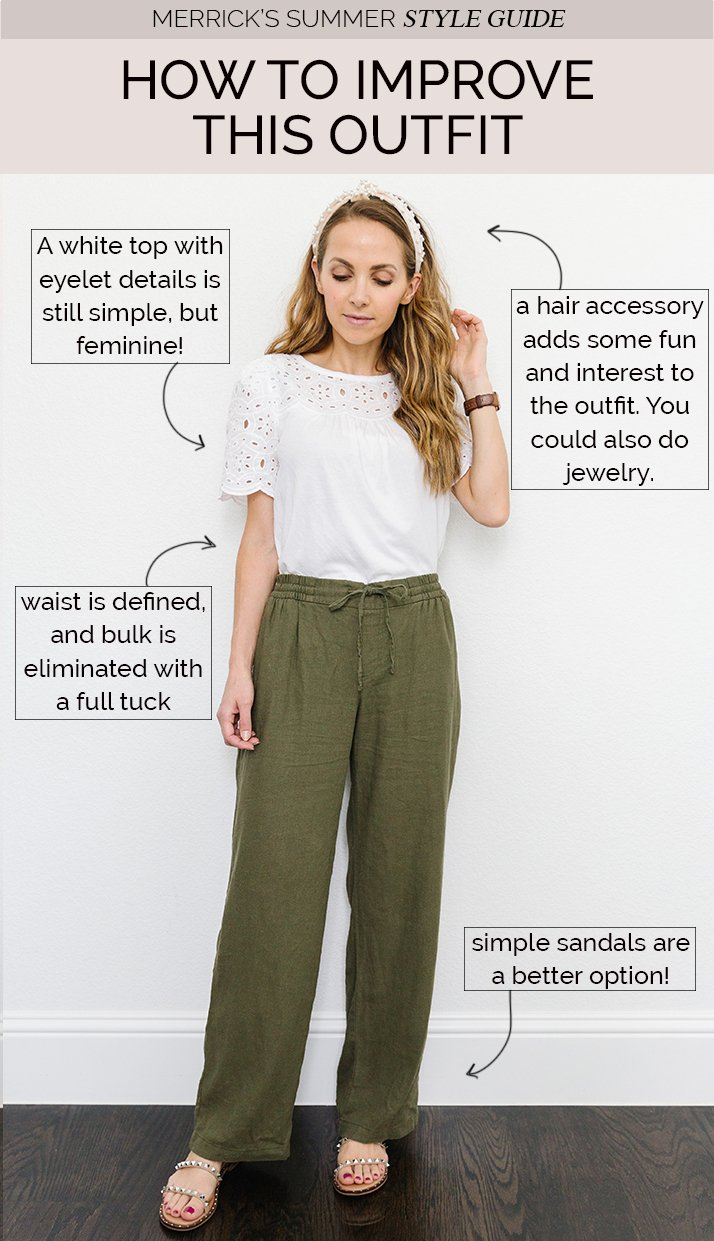 linen pants outfit with green linen pants