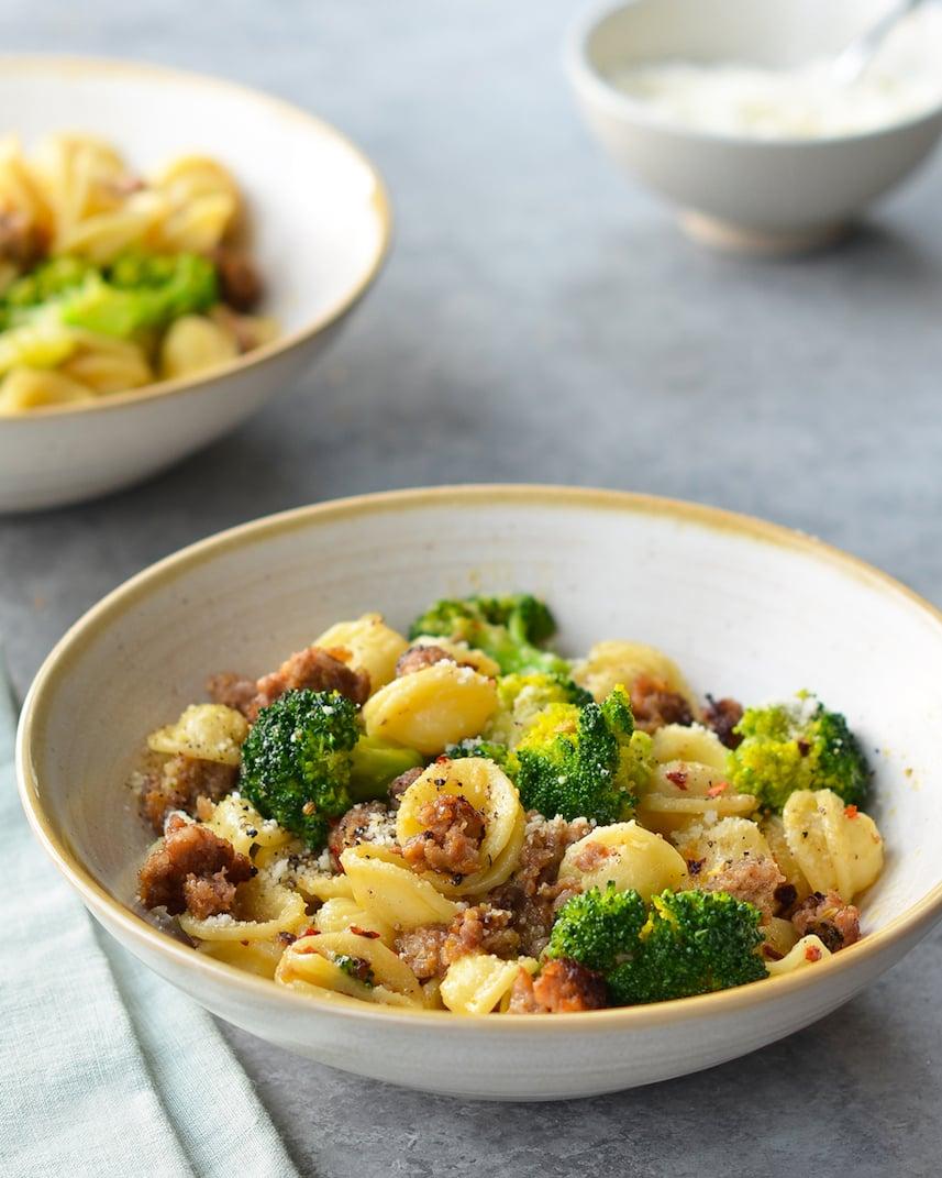 Orecchiette-with-Sausage-and-Broccoli-Dinner