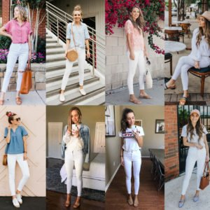 how to style white jeans for summer-header