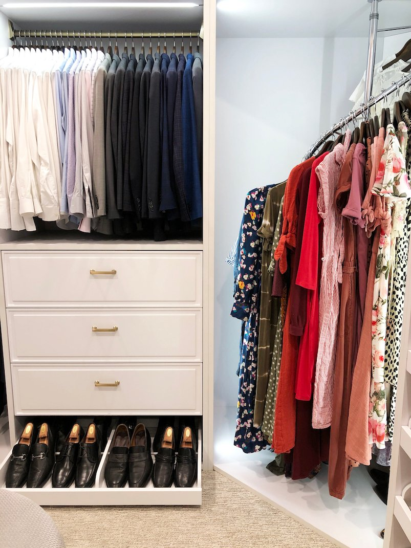 shared his and her closet