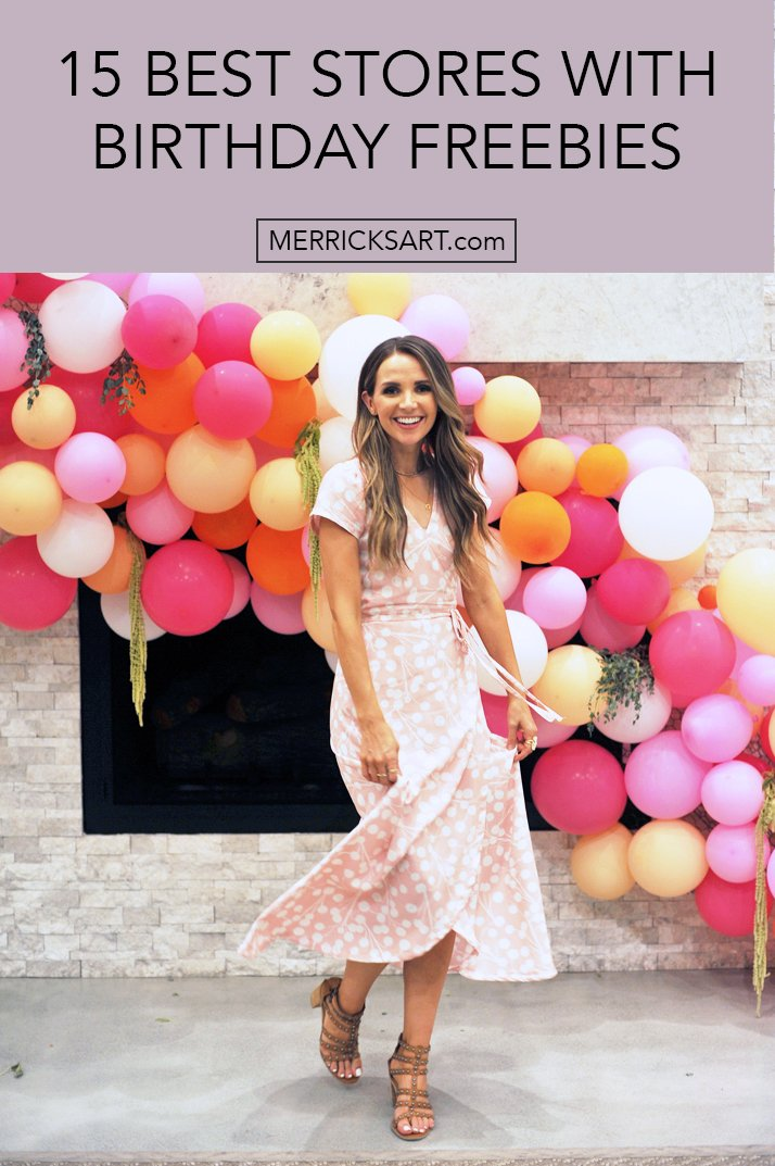 balloon arch and wrap dress