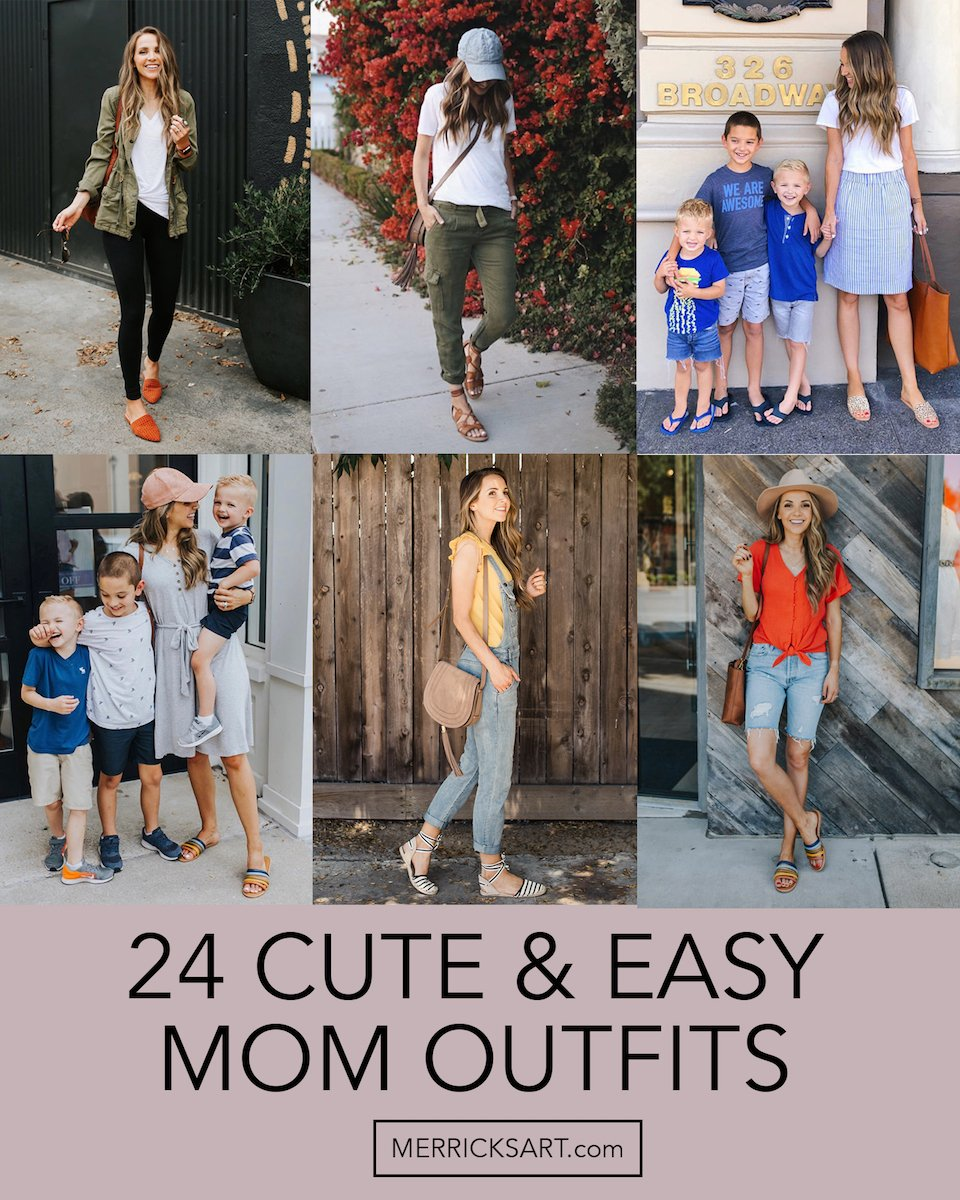 cute and comfortable mom outfits