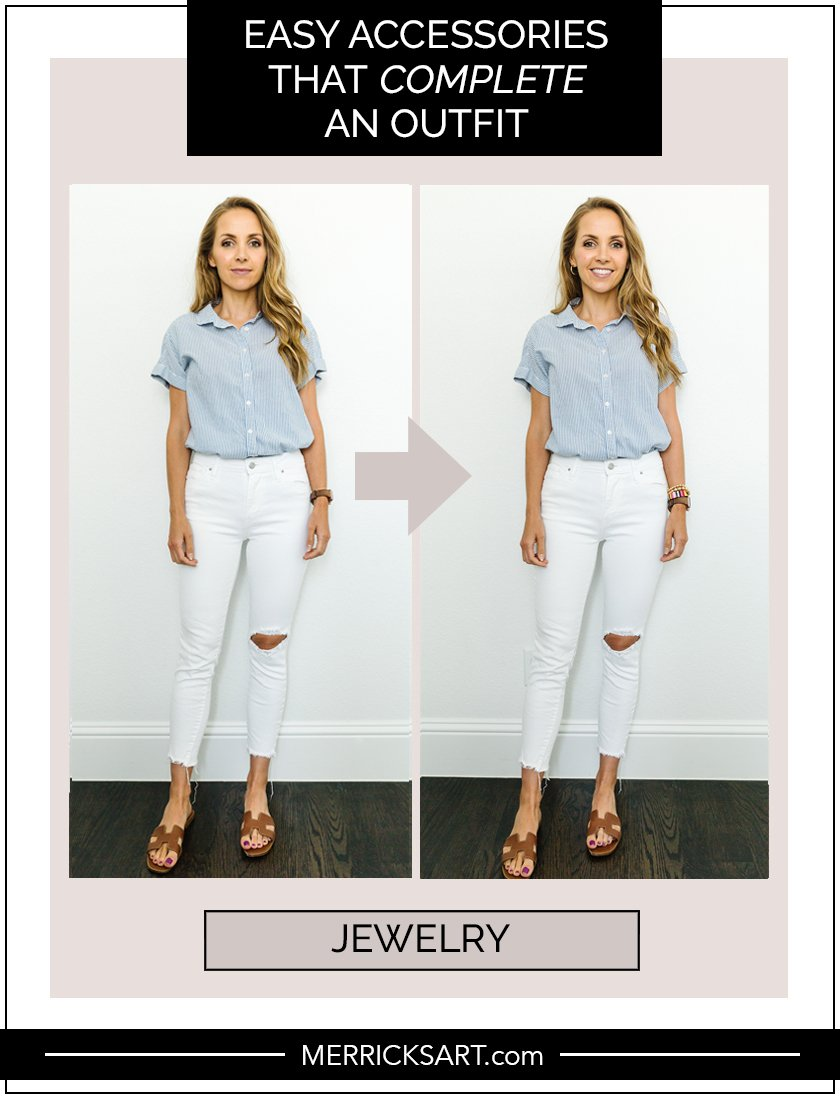 simple jewelry to complete an outfit