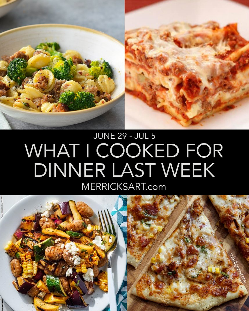 collage dinner ideas weekly menu