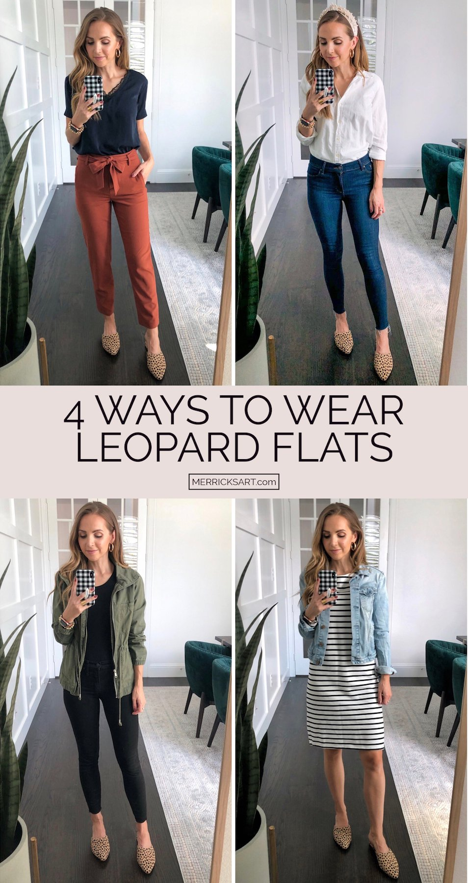 leopard flats collage