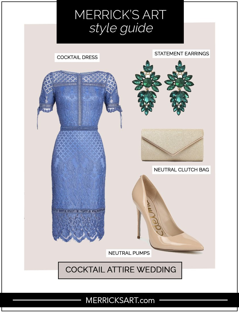 collage of style guide for cocktail attire