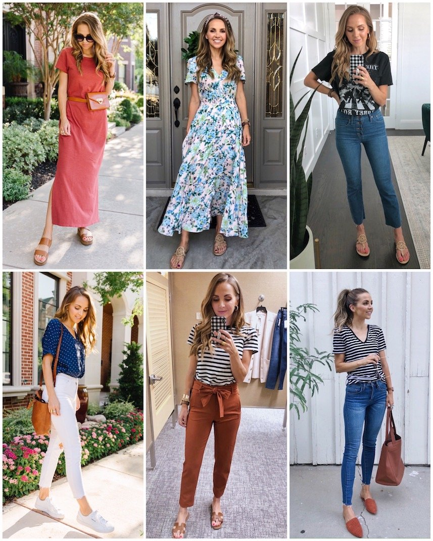 weekly outfits from Instagram