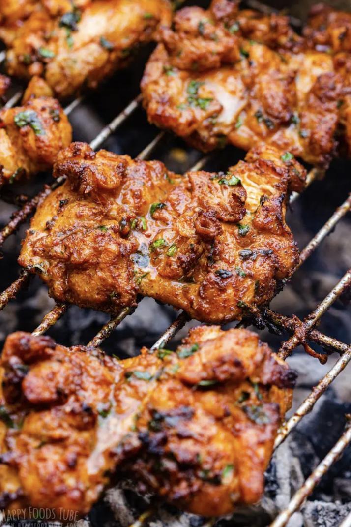 grilled paprika chicken thighs