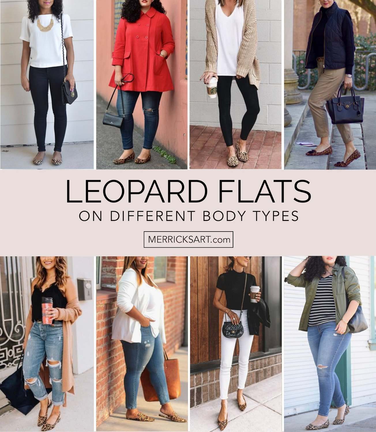 collage of leopard flats outfits