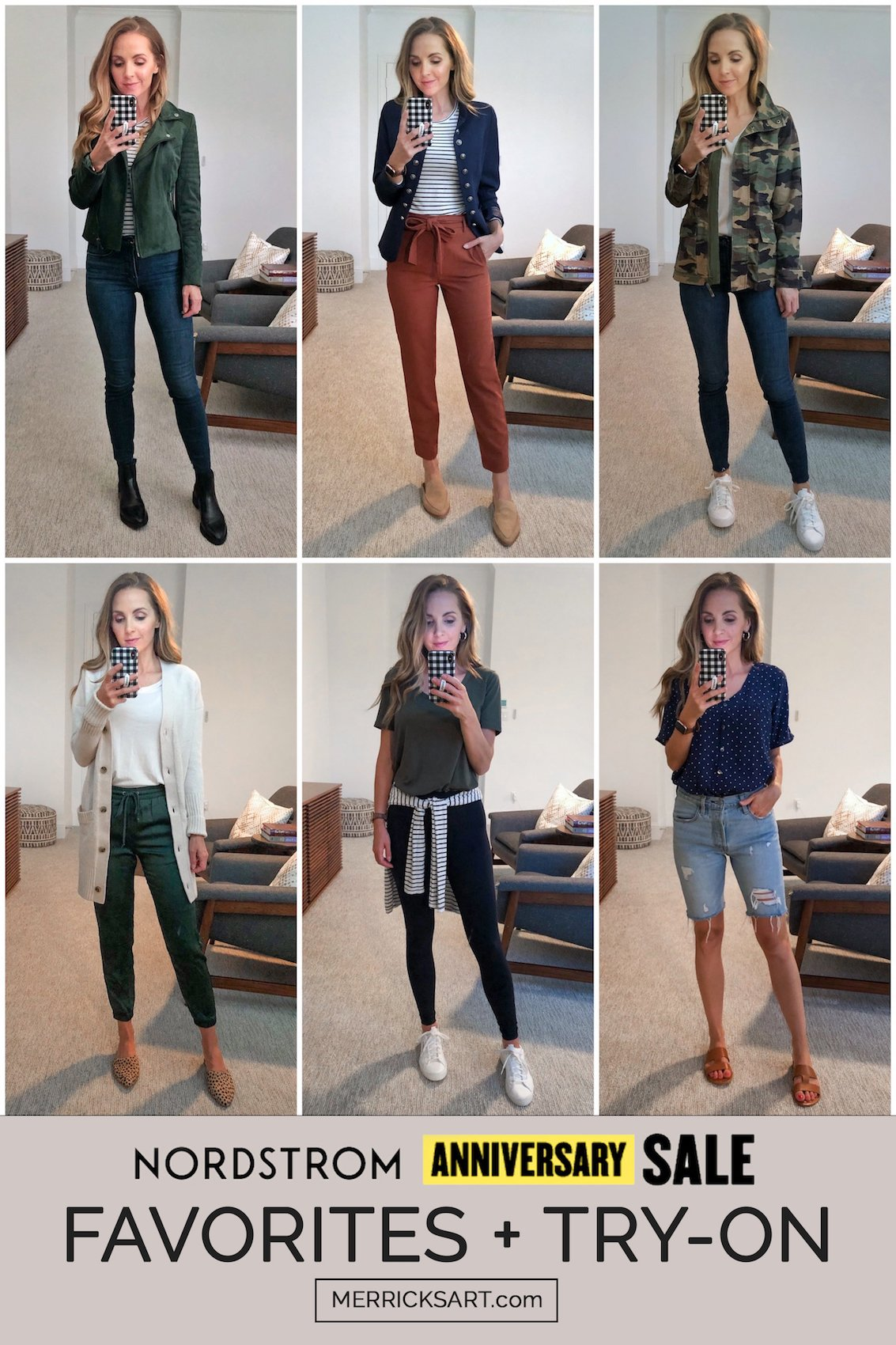 collage of nordstrom anniversary sale try-ons