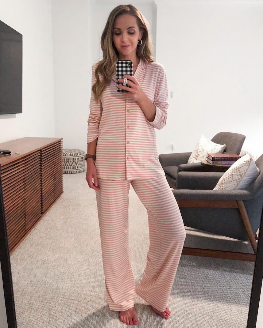 nordstrom striped pajamas
