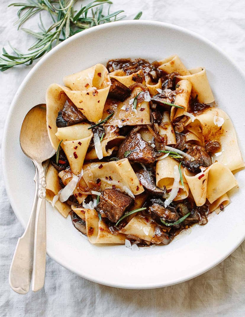 pappardelle pasta with portobello mushrooms