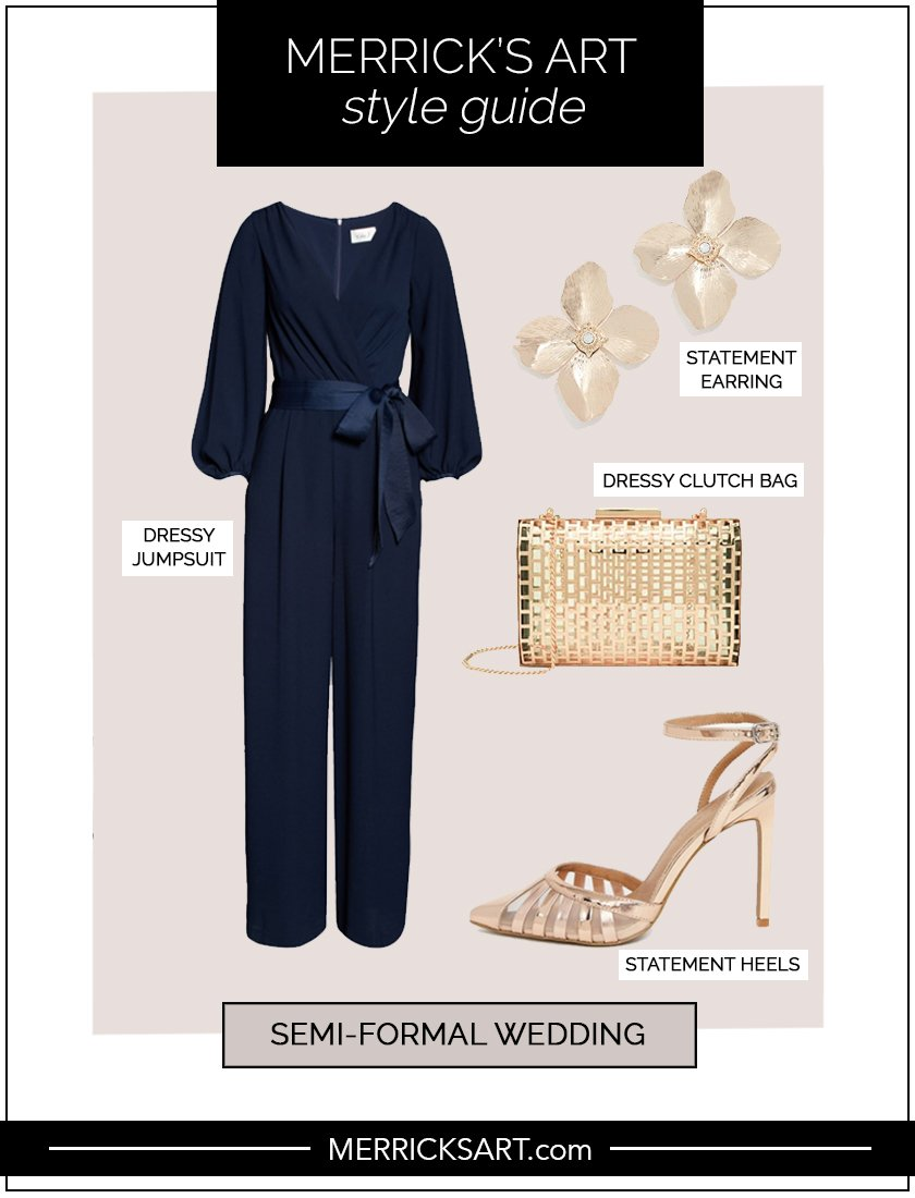 style guide for semi formal wedding dress code