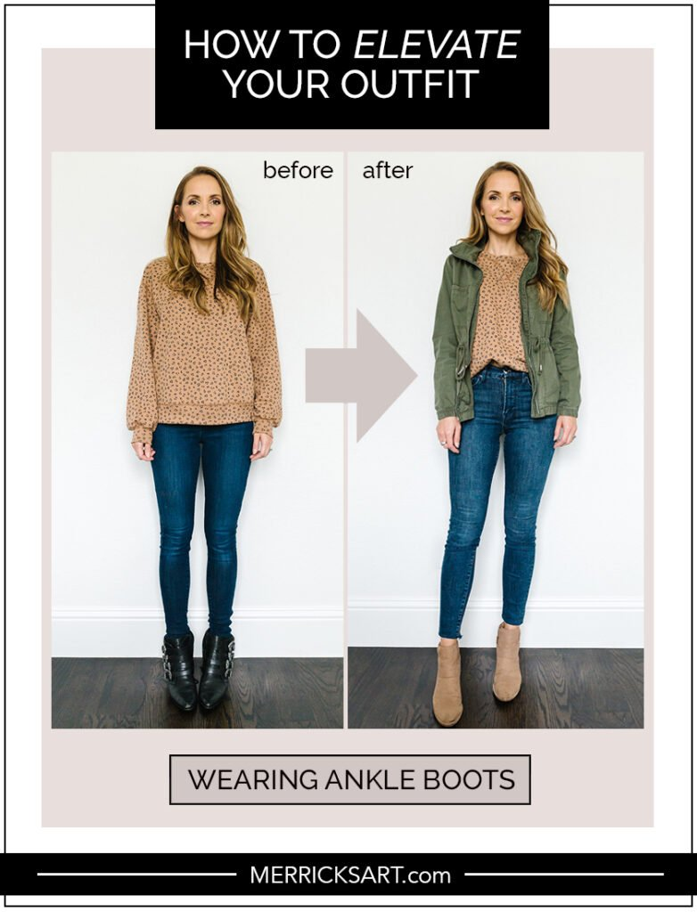 wearing ankle boots with a dress