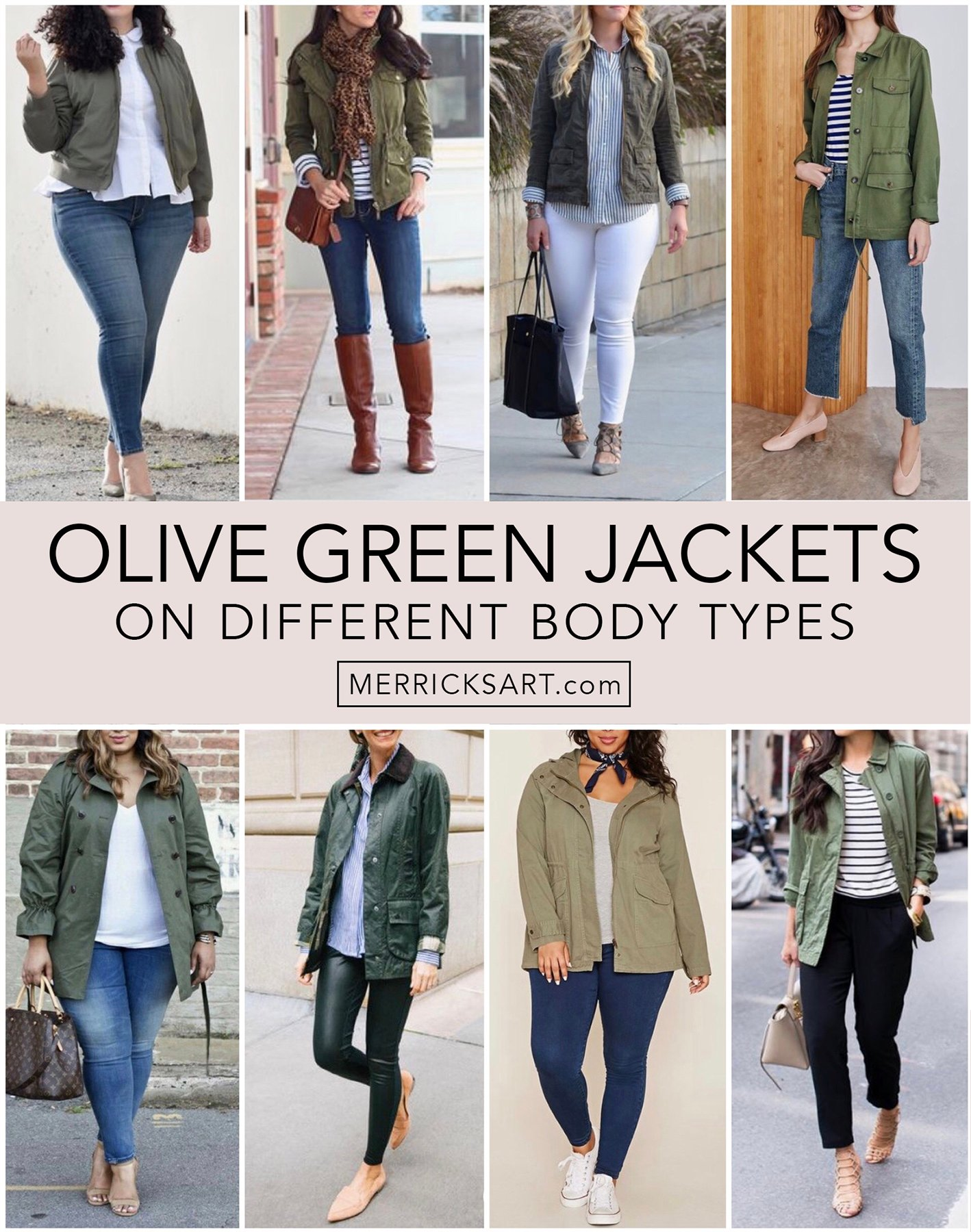 olive green jacket outfits collage
