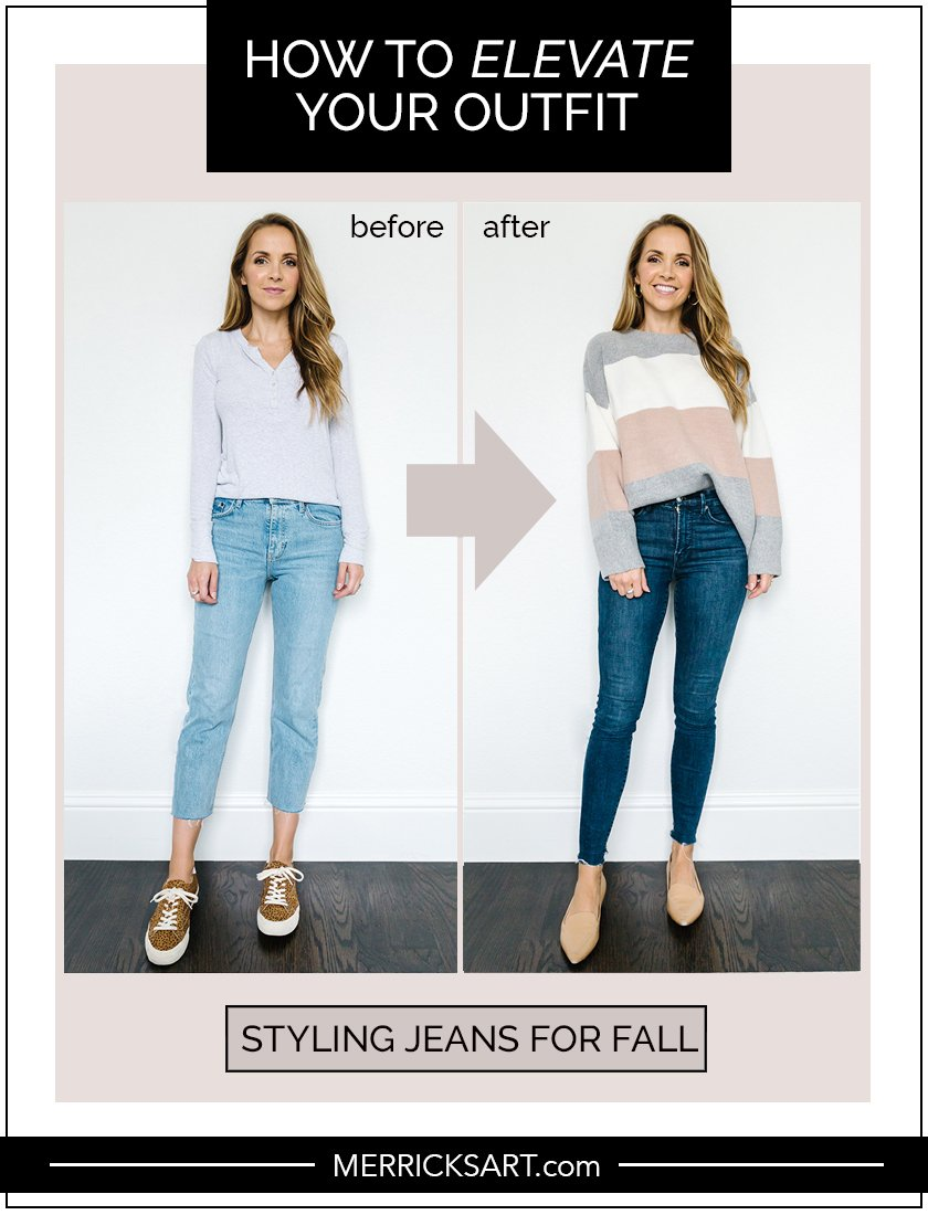 styling jeans for fall