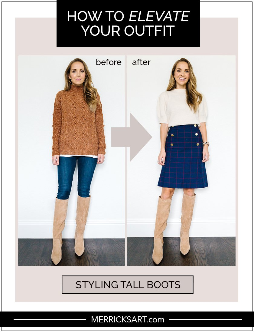 how to wear tall boots for fall