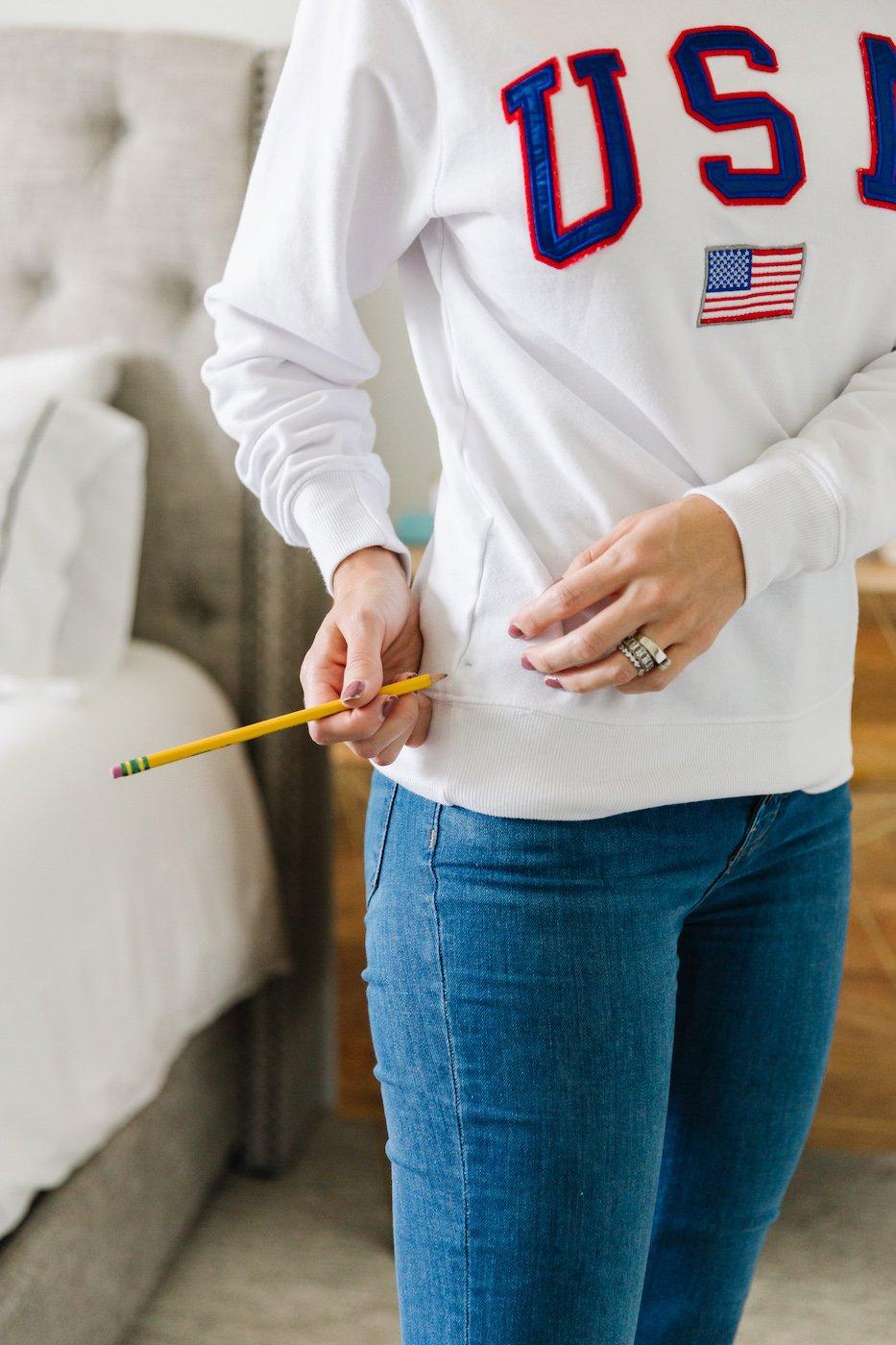 how to crop a sweatshirt 1