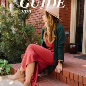 fall outfit ideas - red maxi dress with green cardigan sweater