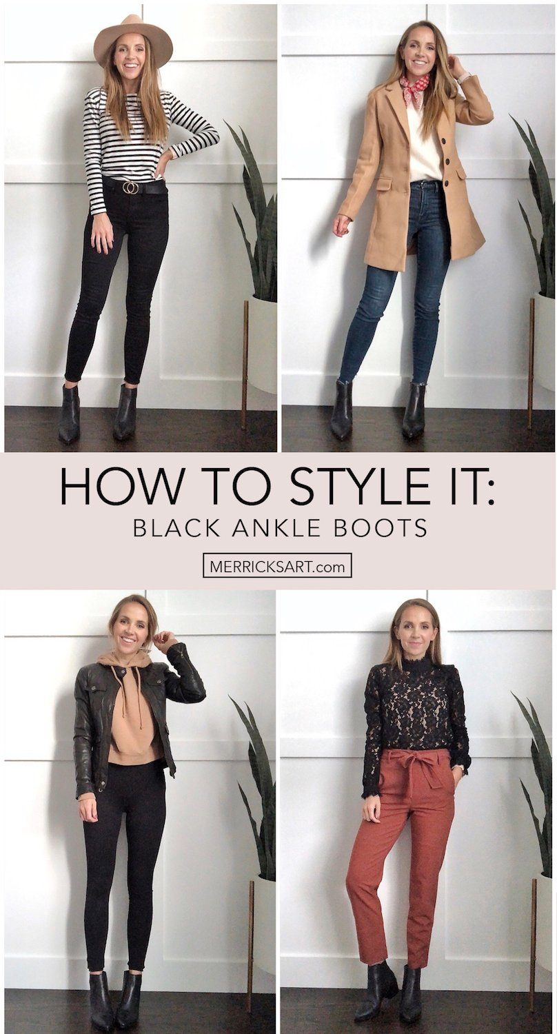 Outfits with Black Booties