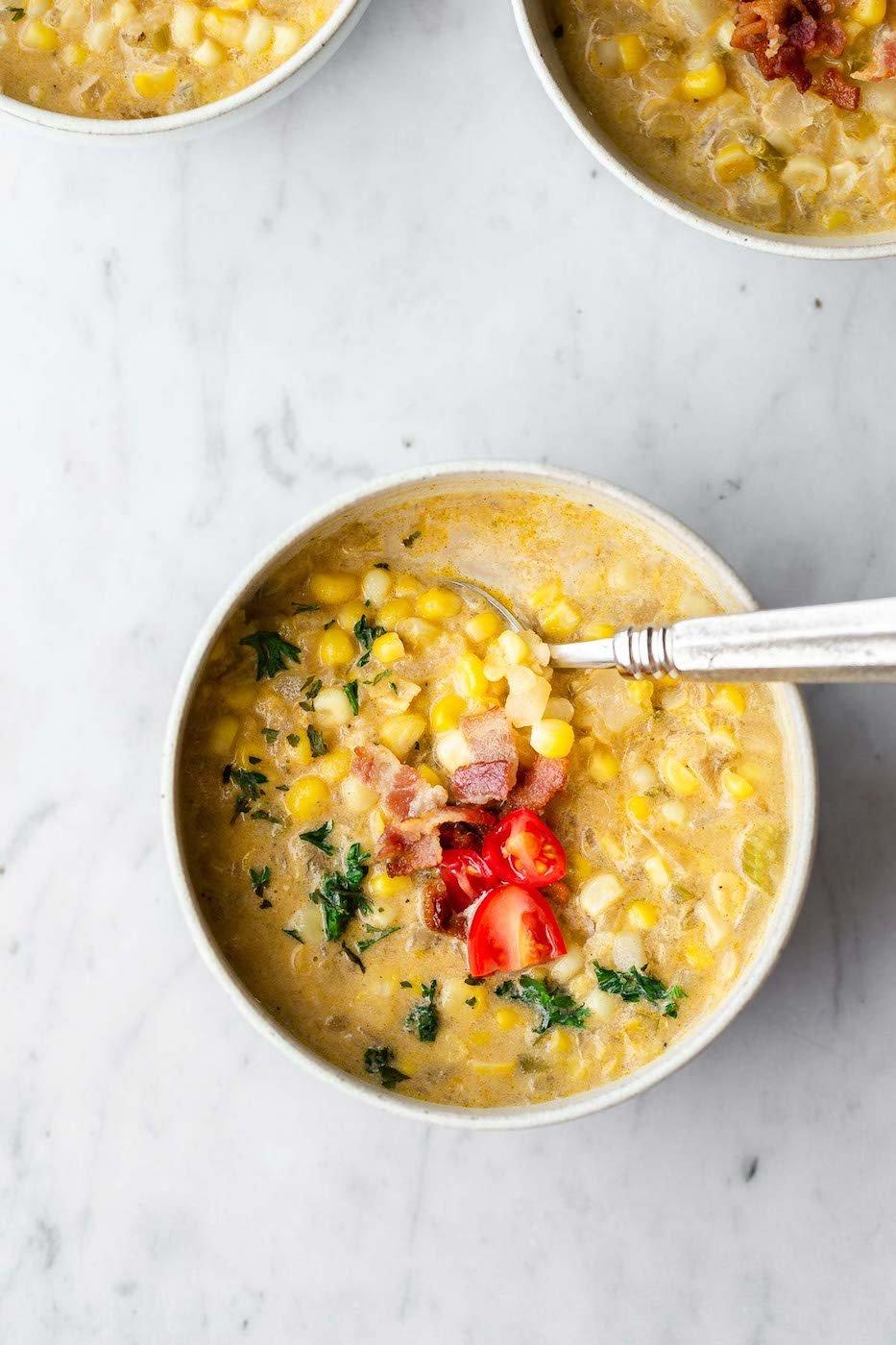 weekly menu - jalapeno corn chowder
