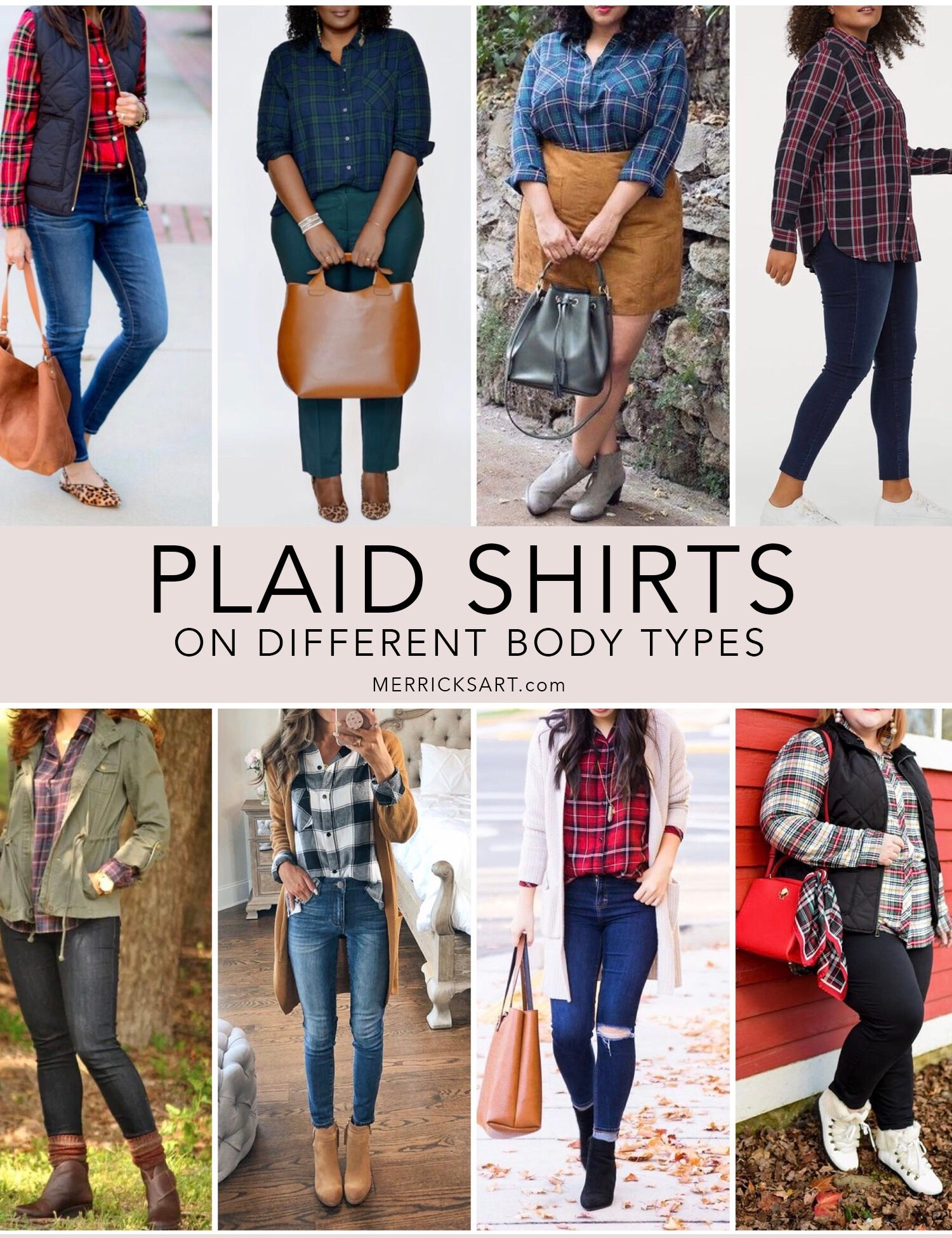 plaid shirt outfits on other body types