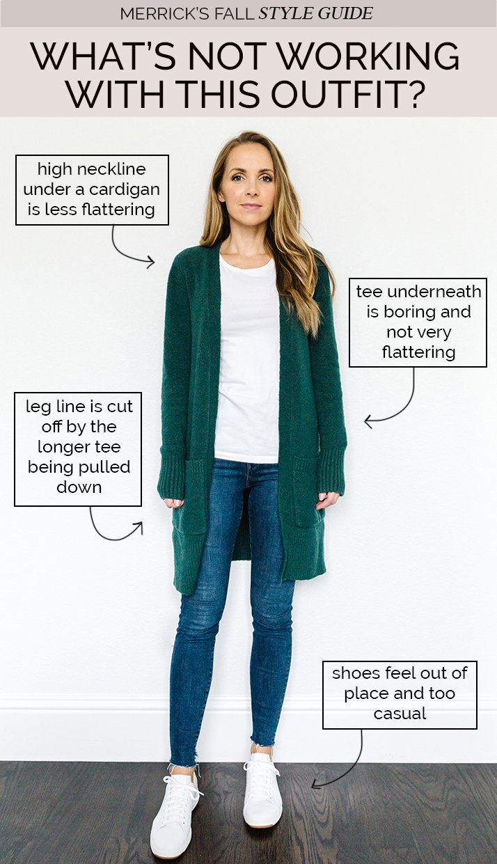 Cardigan Outfit Ideas - white tee with cardigan