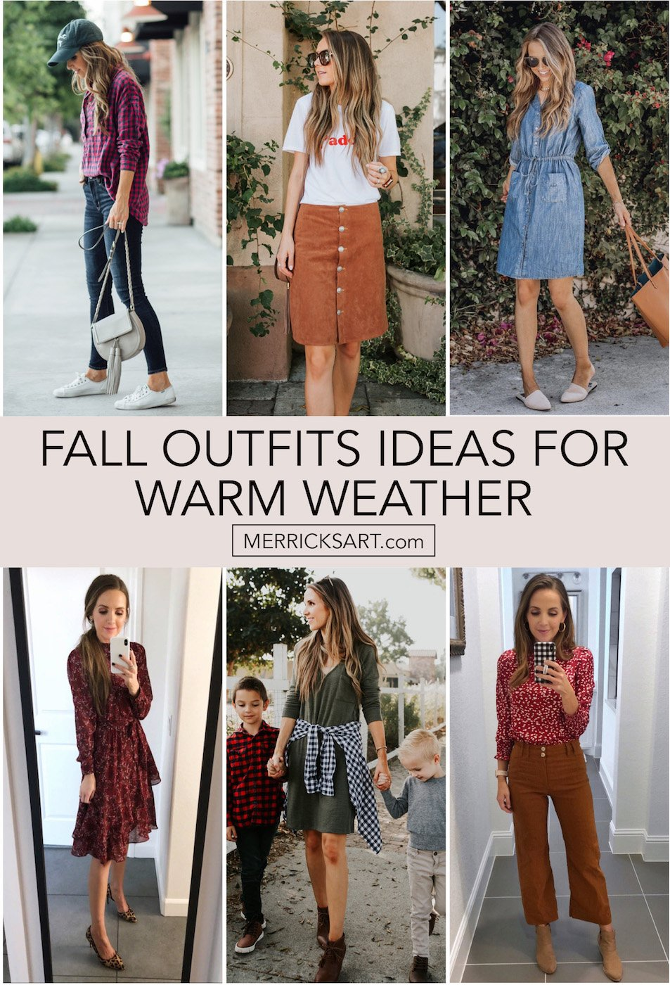 fall outfits for warm weather