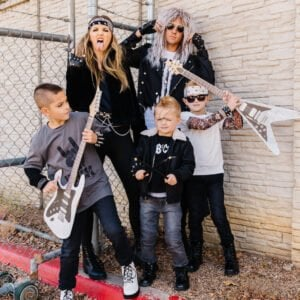 family rockstar outfit halloween costumes