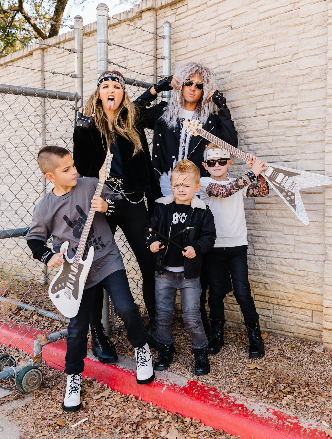 family rockstar halloween costumes