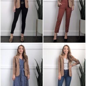 outfits with a sweater blazer