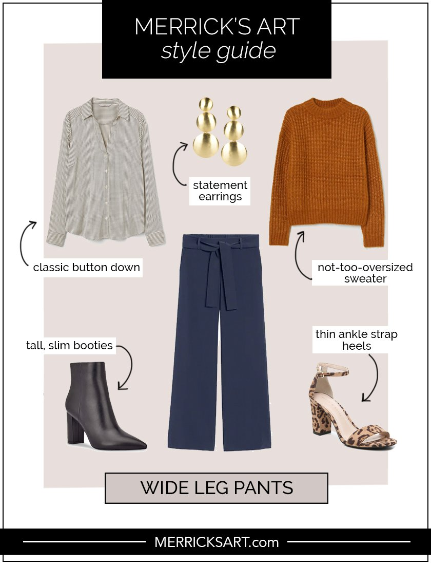 wide leg pants outfits