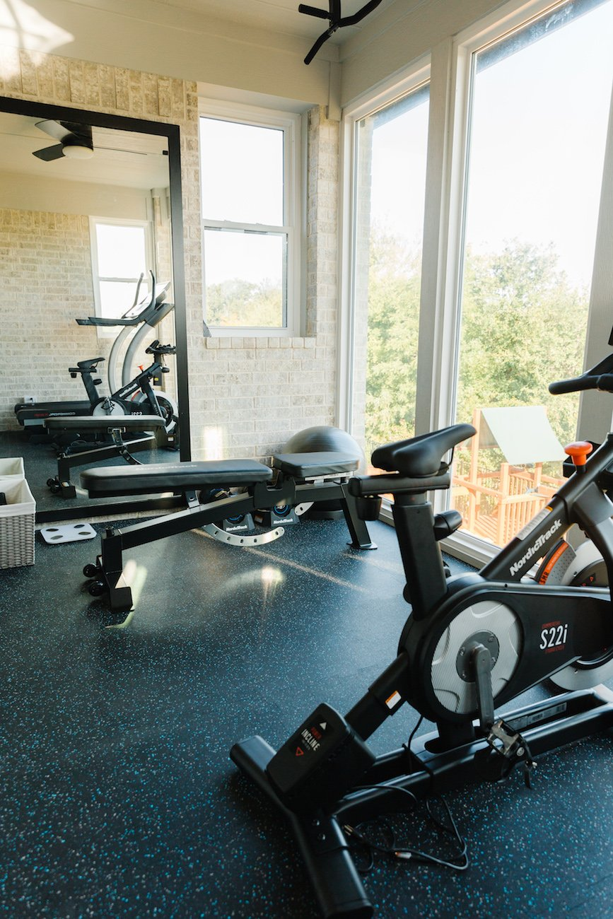 home gym with nordic track