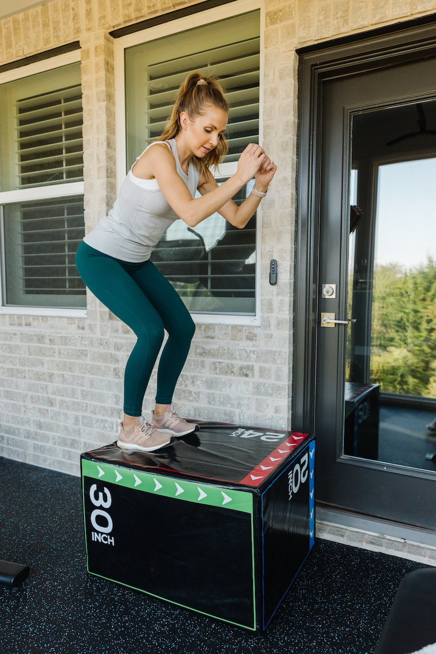 plyometric box in the home gym