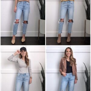 How to style mom jeans collage