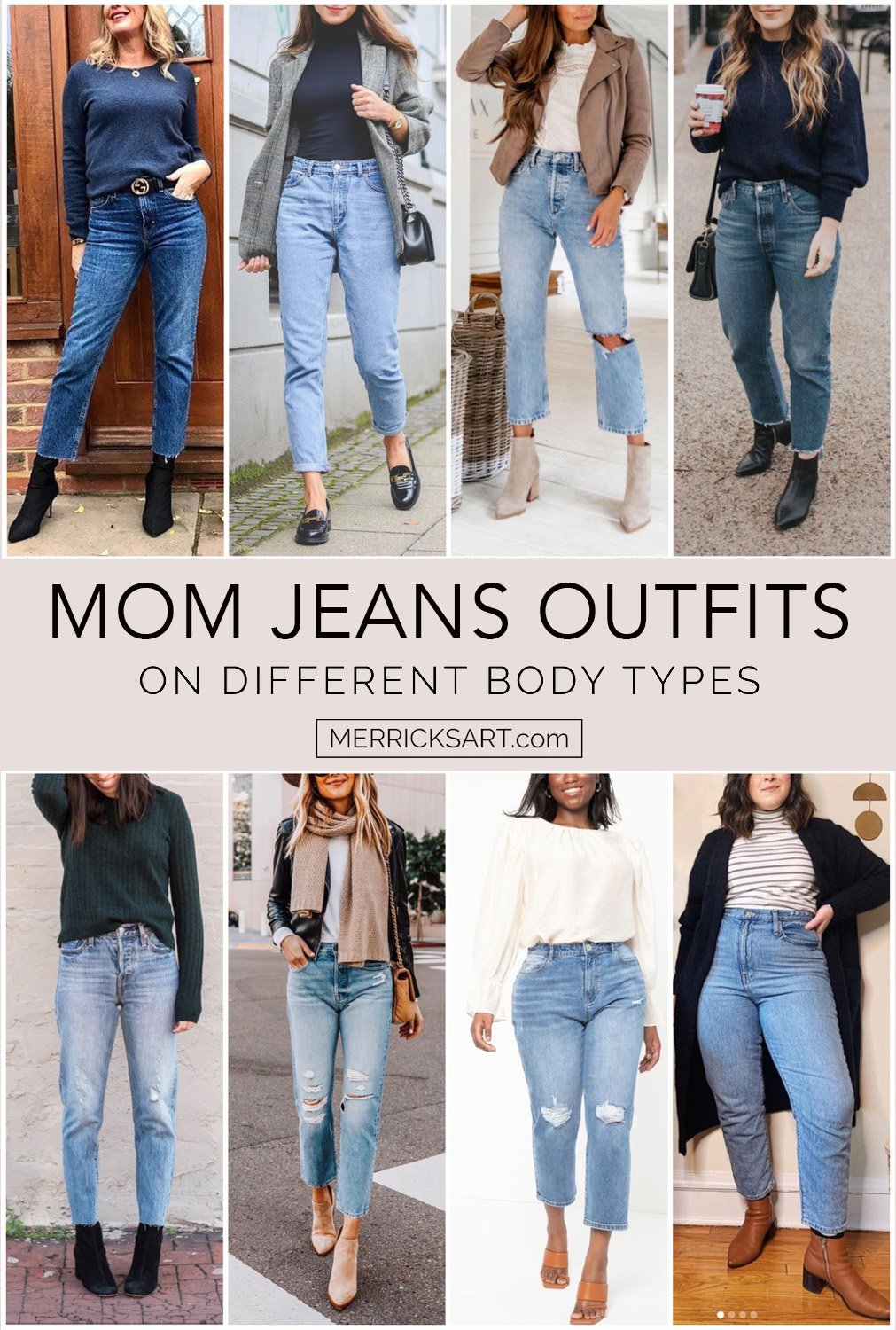 mom jeans outfits on other body types
