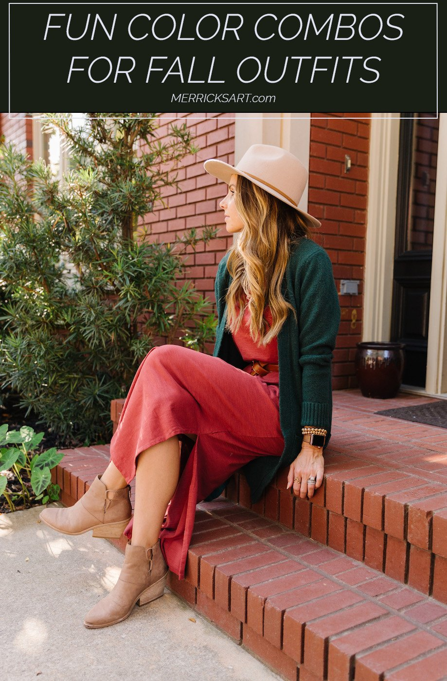 red and green outfit for fall