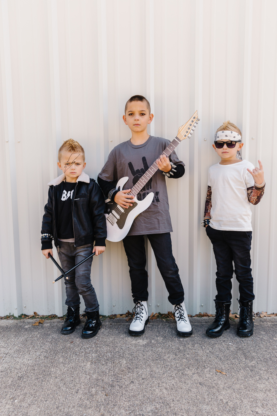 Kids halloween rockstar costume