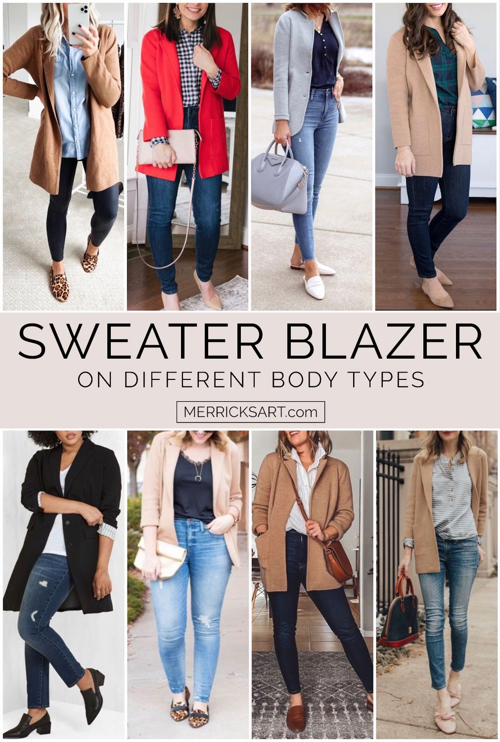 sweater blazer outfit ideas collage