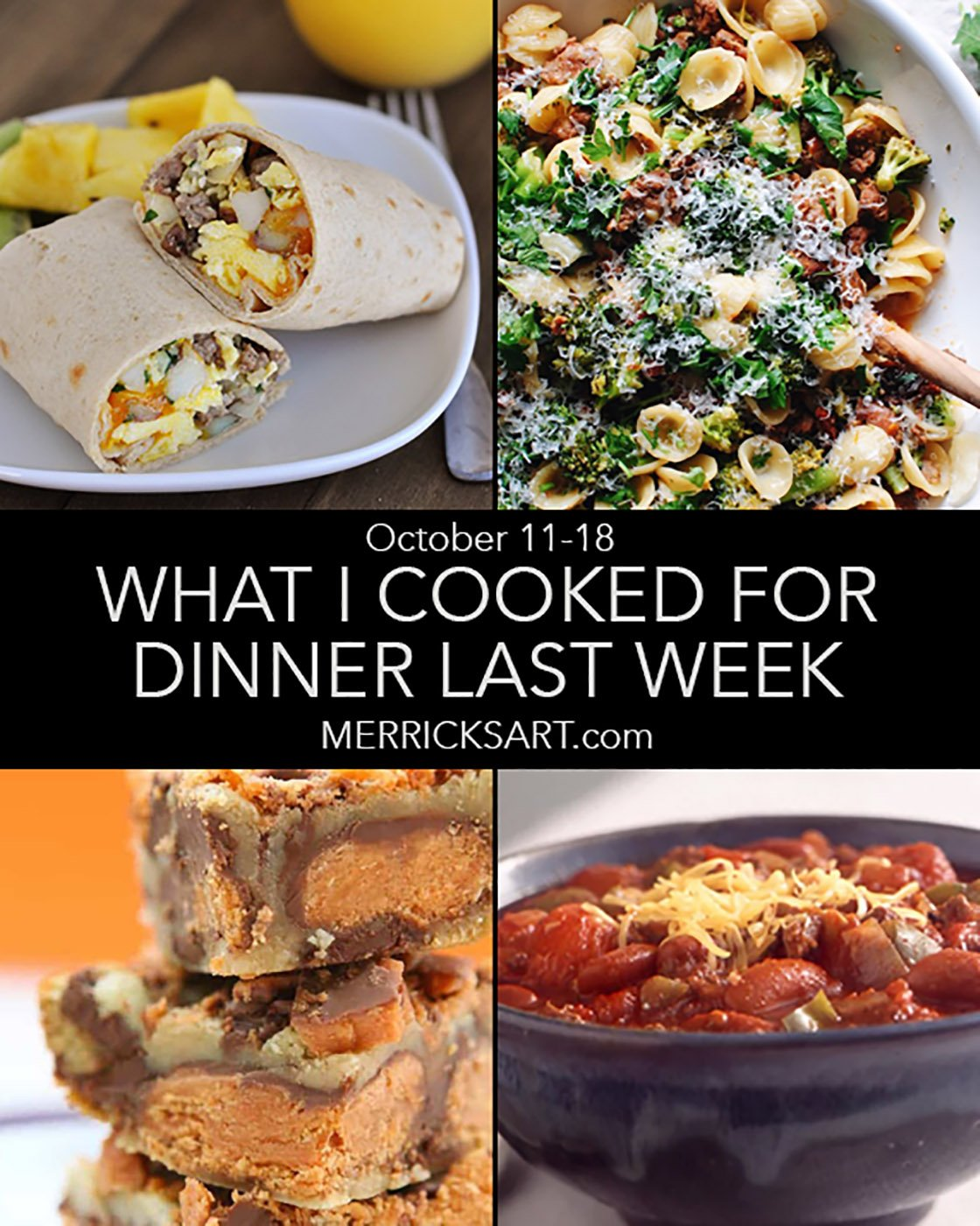 collage for the weekly menu