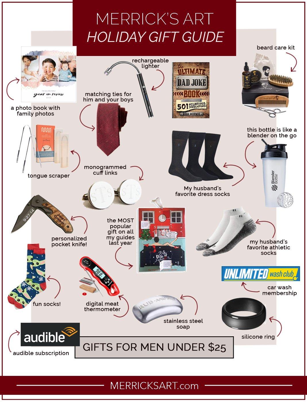 gifts for men under $25