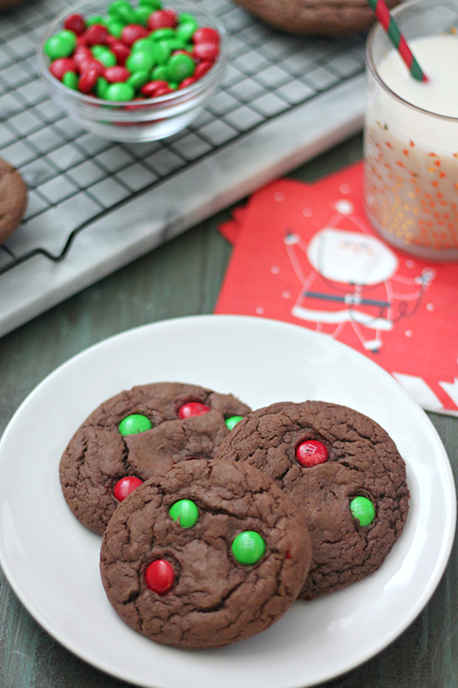 cake mix cookies with M&Ms